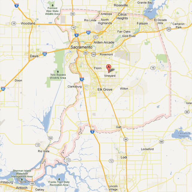 Sacramento County Map